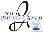 2011 Carrier Corporation Presidents Award