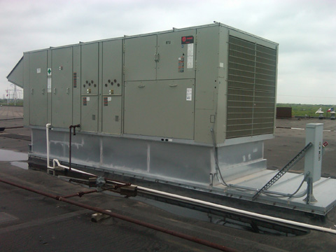 50 Ton Gas / Electric Package Unit Conversion with Curb Adapter