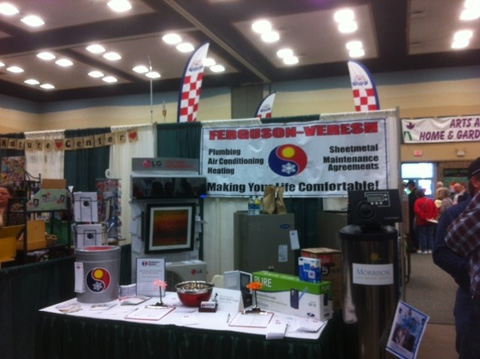 Our booth at the home and garden show
