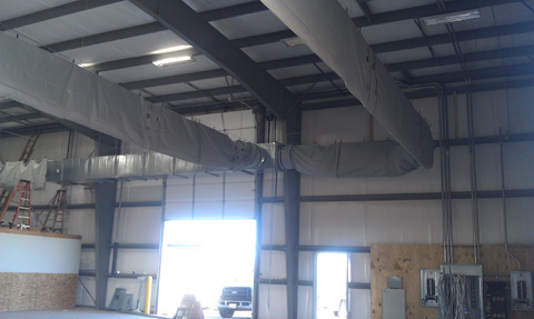 Commercial Fabric Duct Installation